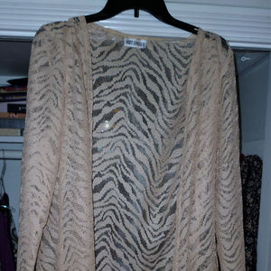 Hot Ginger L long cover up beige polyester